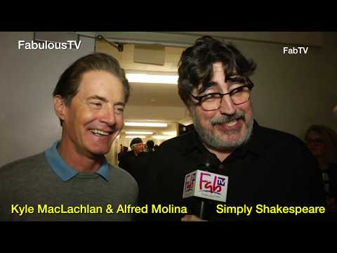 Kyle MacLachlan & Alfred Molina at Simply Shakespeare event at UCLA on FabulousTV