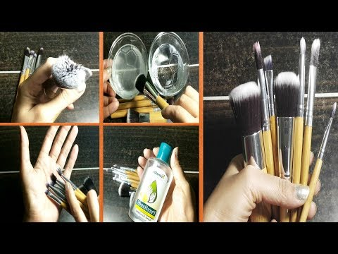 How to Clean Makeup Brushes without Cleanser | Makeup Brushes Cleaning