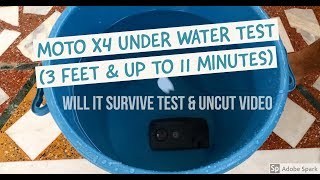 Moto X4 Under Water Test ( 3feet & 11 minutes Uncut Video )