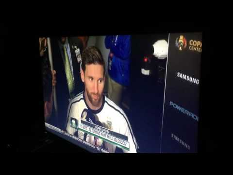 Messi calling it quits for Argentina national team 6.26.16 Copa America