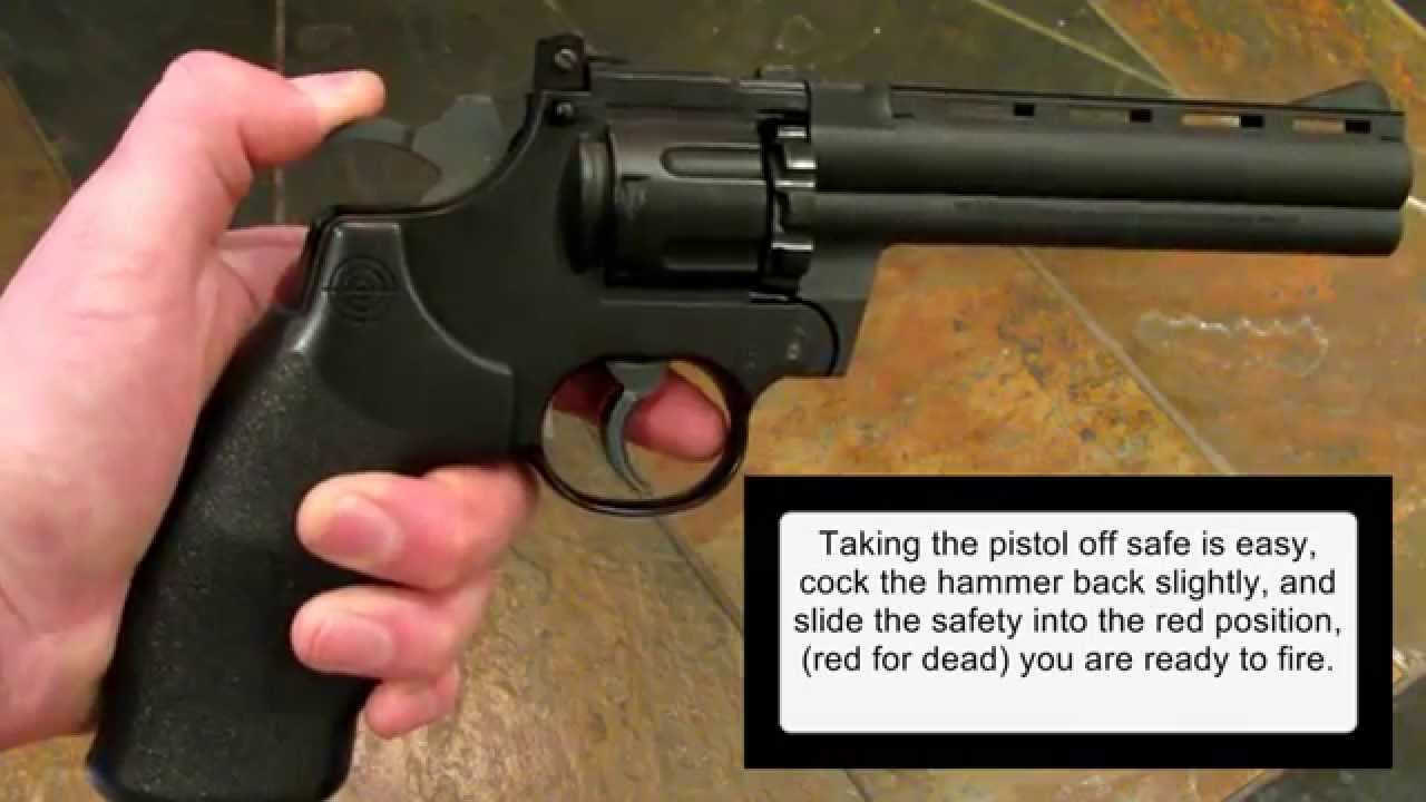 Crosman 357 Magnum Air Pistol, How To Load And Install Co2 Cartridges