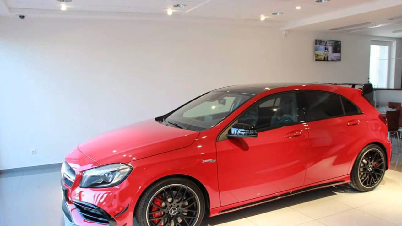 mercedes benz a45 amg facelift 2017 in red and night packet youtube. Black Bedroom Furniture Sets. Home Design Ideas