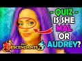 DESCENDANTS 3 QUIZ 🍎 Can You Guess The Cast By Their Eyes? 👀 ft. MAL,AUDREY,UMA,EVIE,HADES & more!