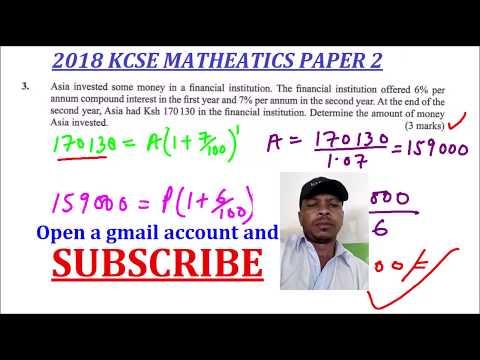 kcse 2018 maths paper2 question 3 - Thủ thuật máy tính