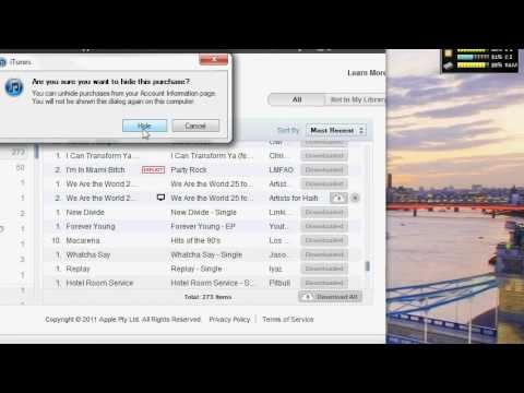 How to Hide purchases in iTunes/iCloud