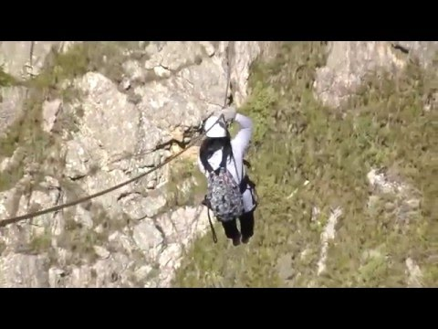 CapeTown 2016: Cape Canopy Tour: Scary & David 'Hang on & zip it'