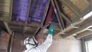 Warwickshire Lantern Roof Insulation    Basf Spray Foam Insulation   Part 1