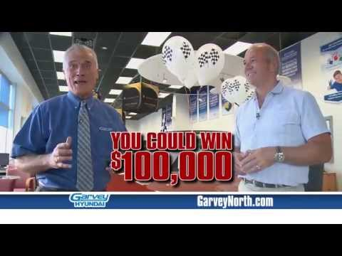 THE $100K WINNER COULD BE YOU! - GARVEY HYUNDAI PLATTSBURGH