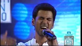 Krish singing Manjal veyil