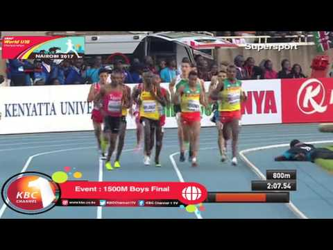 George Manangoi wins Gold for Kenya in 1500M Race