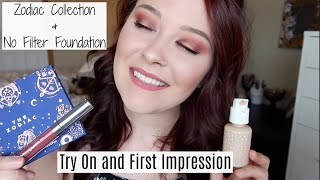 Colourpop First Impressions || Zodiac Collection & No Filter Foundation
