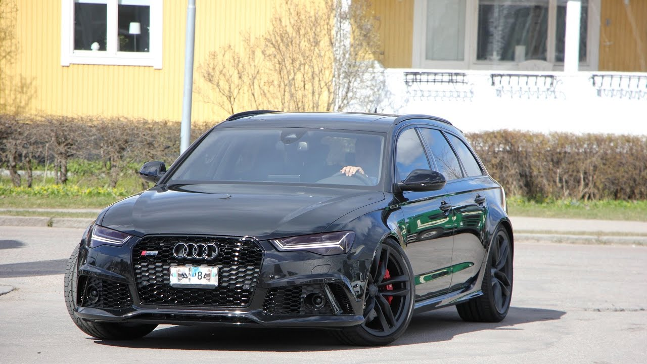 Blacked out 2017 Audi RS6 C7 Performance 700+PS| Brutal ...