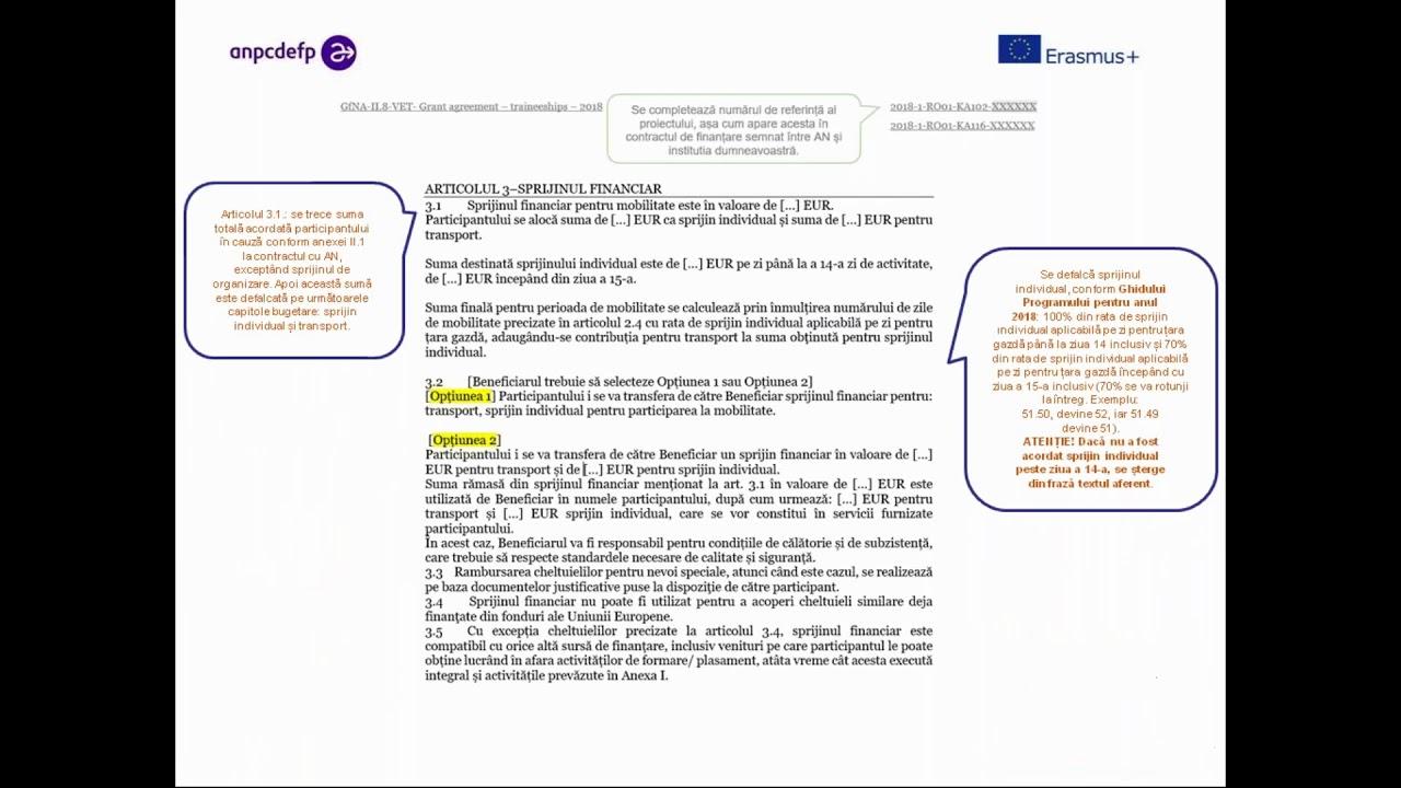 opțiunea de valoare a contractului)
