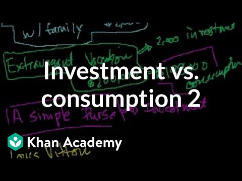 Investment vs. consumption 2 | Finance & Capital Markets | Khan Academy