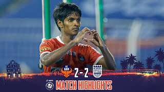 Highlights - FC Goa 2-2 Mumbai City FC - Semi-Final 1 (1st Leg) | Hero 2020-21