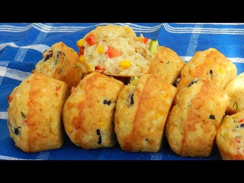 Vegetable Cheese Muffins - Savory Breakfast Muffins
