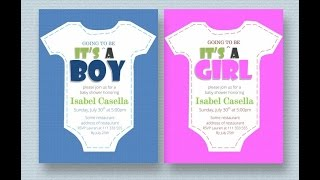 Baby Shower Invitation Template Ms Word