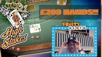 £200 BIG BET BLACKJACK HANDS!! ⚠️(Online Casino)