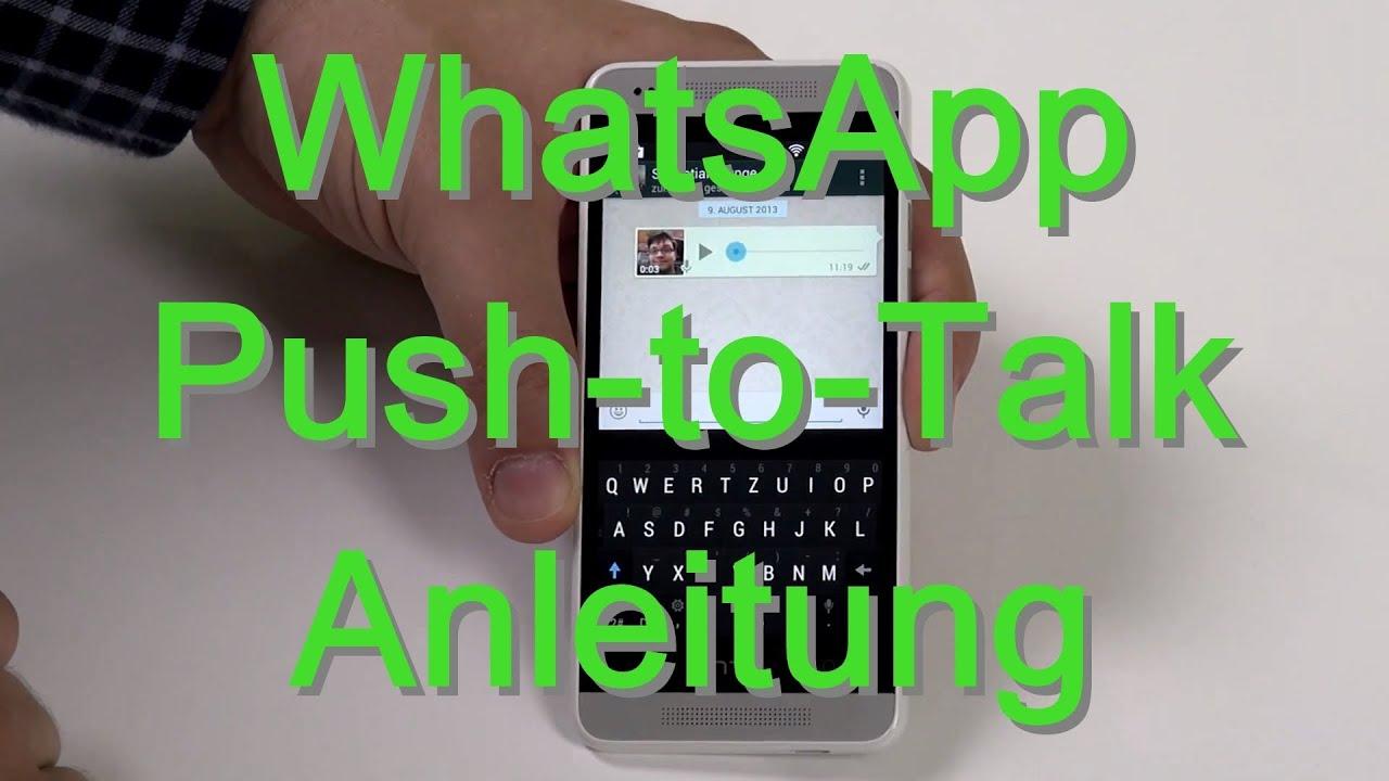 WhatsApp Push To Talk Funktion