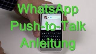 WhatsApp: Push-to-Talk-Funktion - Anleitung - Android & iPhone - androidnext.de