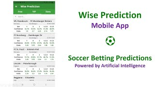 [#Mobile #App]  #Wise #Prediction - #Soccer #Betting #Predictions with #AI screenshot 5