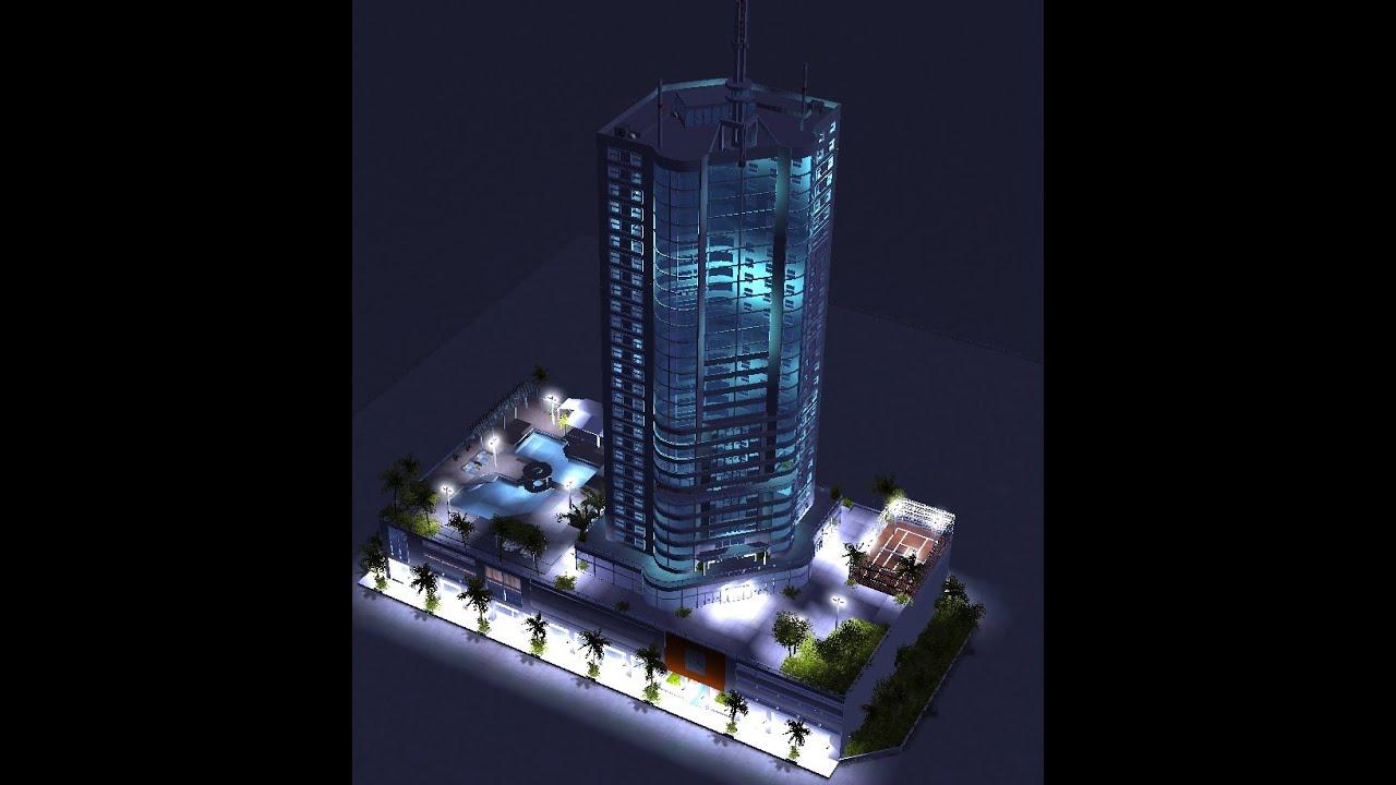 Rollercoaster Tycoon 3 / Meine Bauten + Download : 2 Hotels und 3  Ferienhäuser