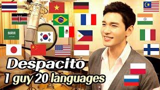 Despacito (Multi-Language Cover) 1 Guy Singing in 20 Different Languages - Travys Kim