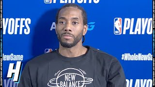 Kawhi Leonard Postgame Interview - Game 4 | Clippers vs mavericks | August 23, 2020 NBA Playoffs