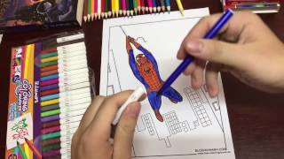 How to paint Spiderman - Pating Spiderman for Kid -Coloring Spiderman for Kids