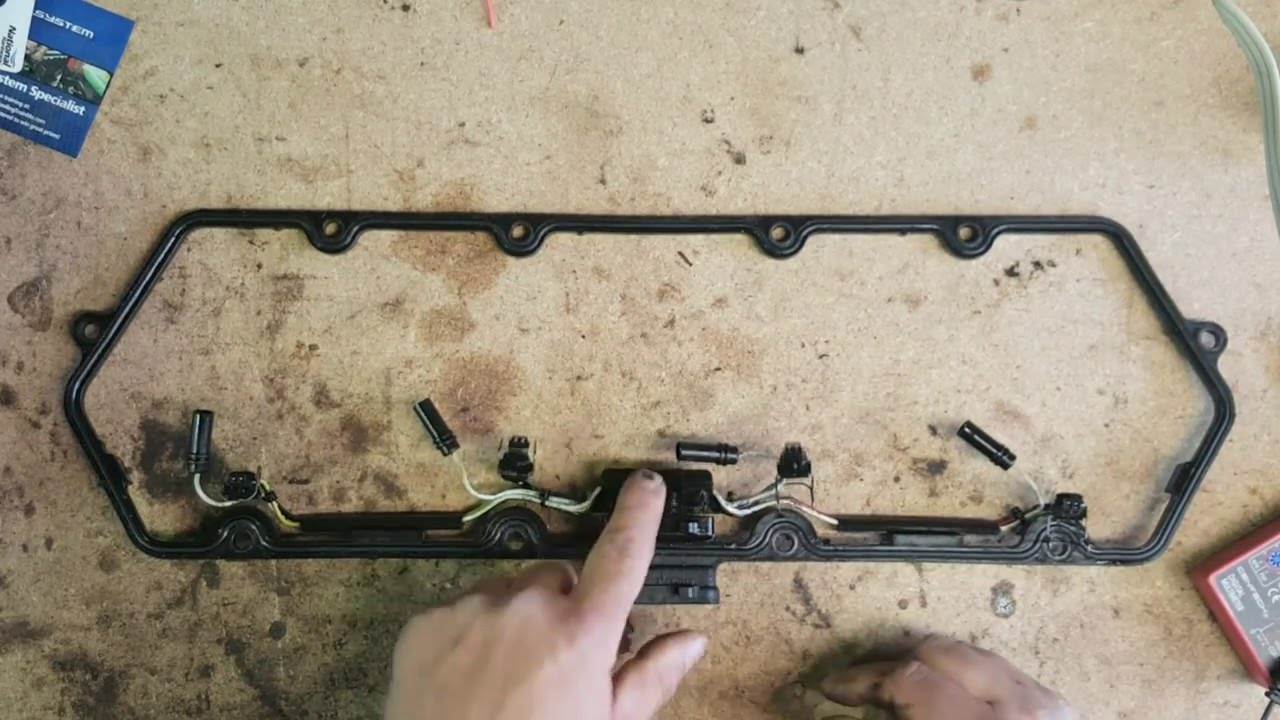 7 3 powerstroke misfire - valve cover gasket wiring failure analysis -  youtube