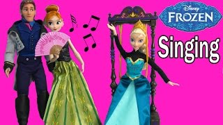 Queen Elsa Princess Anna Singing Movie Doll Disney Store Prince Hans Swing Frozen Toy Review Video