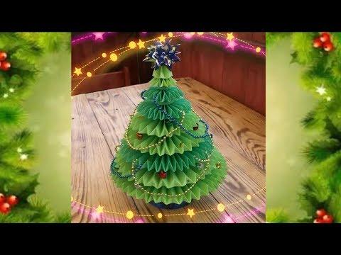 Елка на новый год своими руками из бумаги елка