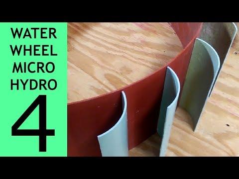 Waterwheel Microhydro P4, Waterwheel Construction