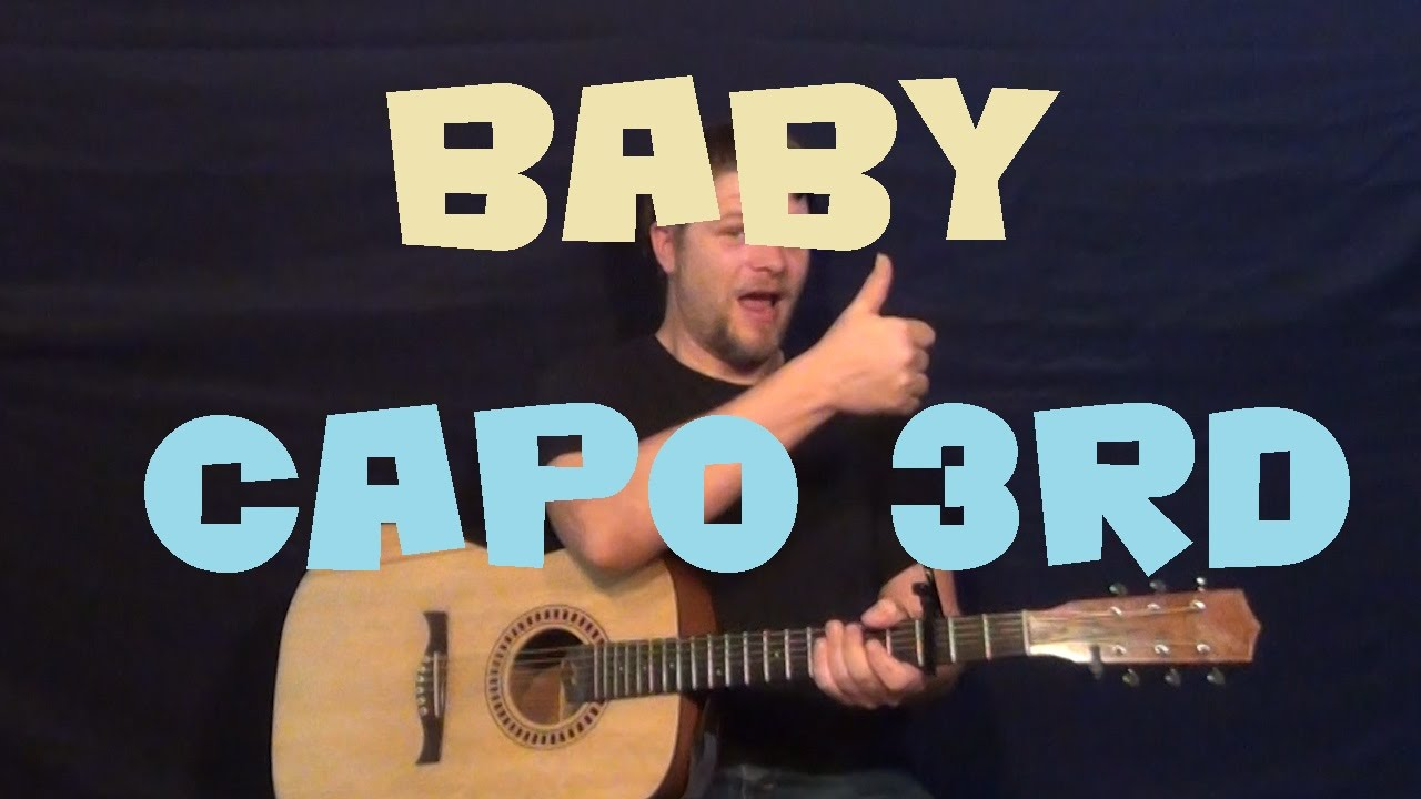 Baby Justin Bieber Easy Guitar Chord Strum Beginner Lesson How