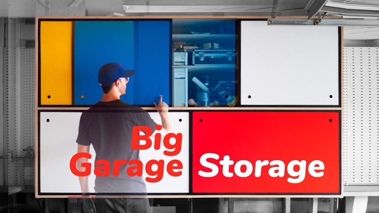 Vertical Plywood Cart Big Garage Storage Upgrade Diy Woodworking