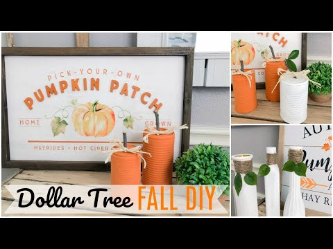 DOLLAR TREE FALL DIY | RUSTIC FARMHOUSE PUMPKINS