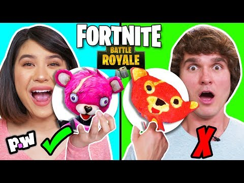 FORTNITE Pancake Art Challenge!! Learn To Make Battle Royale Loot Llama, Pink Teddy Bear And More!
