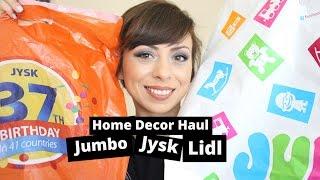 Home Decor Haul - Какво си купих от Jumbo, Jysk и Lidl