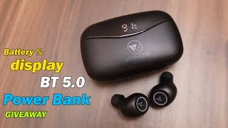 Wings PowerPods True Wireless Earbuds,Digital Display, Power Bank Function, offer price!