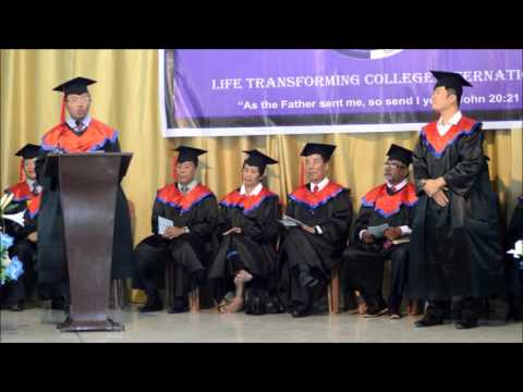Life Transforming College International, Graduation 2015