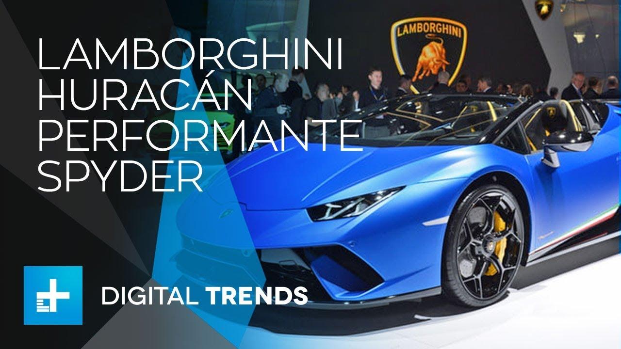 Lamborghini Huracán Performante Spyder – First Look at Geneva Motor Show 2018