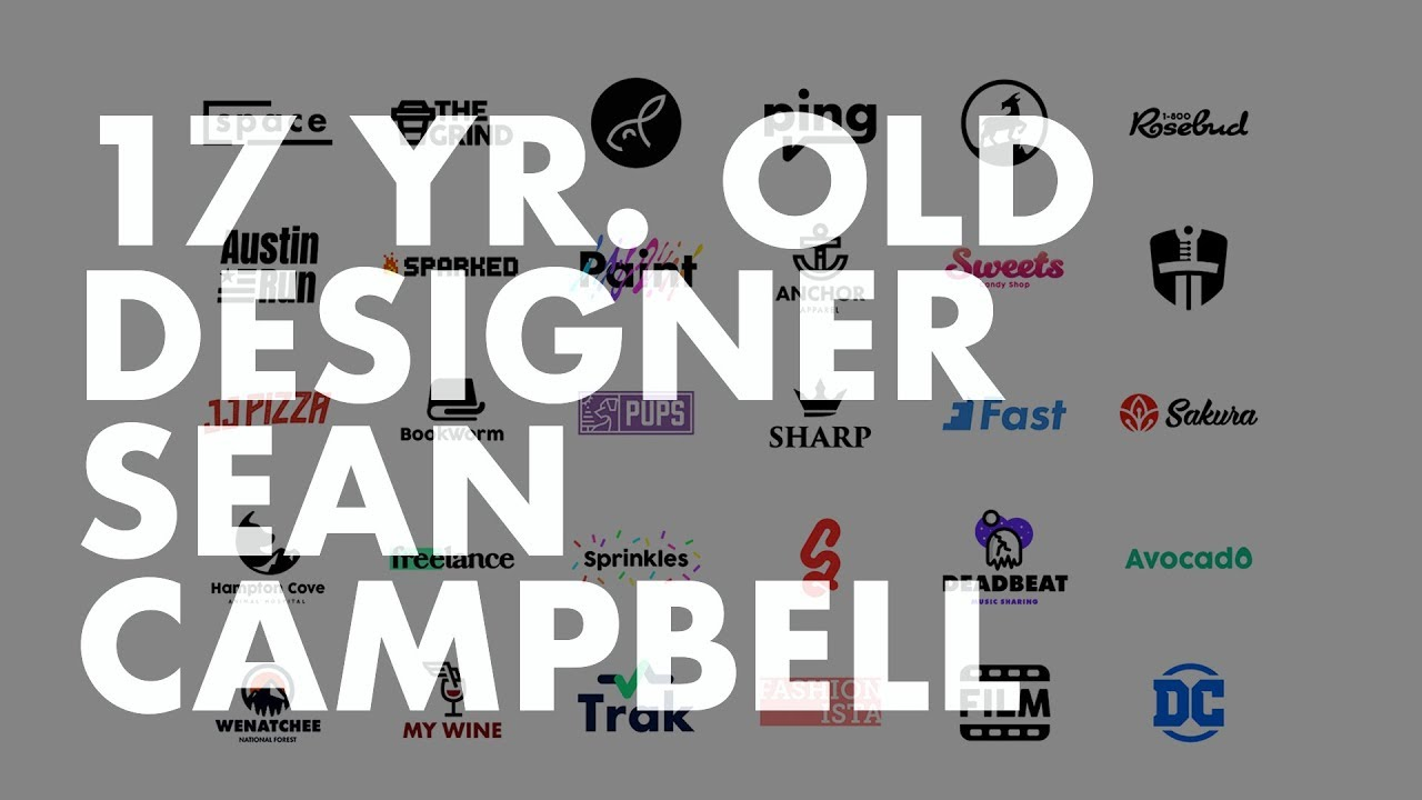 17 yr old graphic designer sean campbell self taught young gun youtube