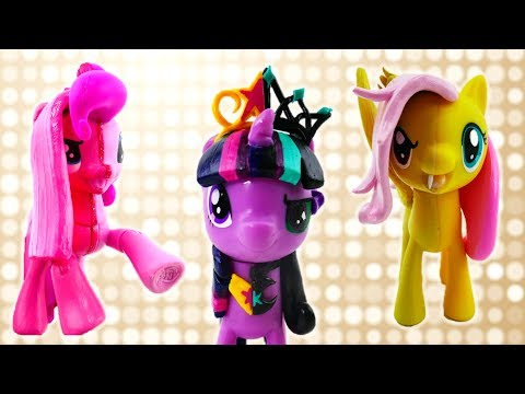 Compilation DIY MLP - Twilight Fluttershy and Pinkie Pie Split Pony Customs