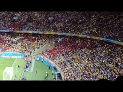 Brazil World Cup 2014-Uruguay - Costa Rica 1-3 - Ole Ole Ole Ole Ticos Ricos