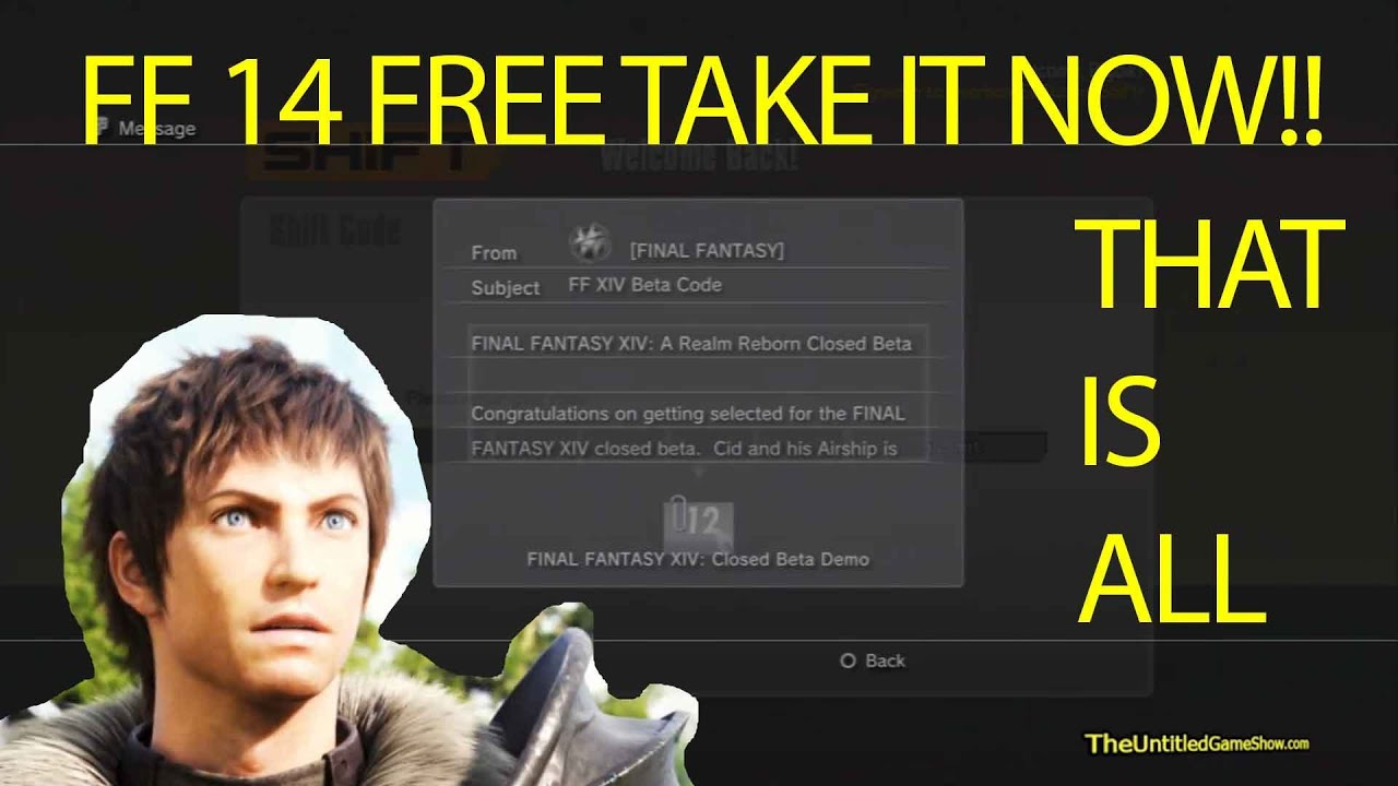 final fantasy 14 a realm reborn registration code free