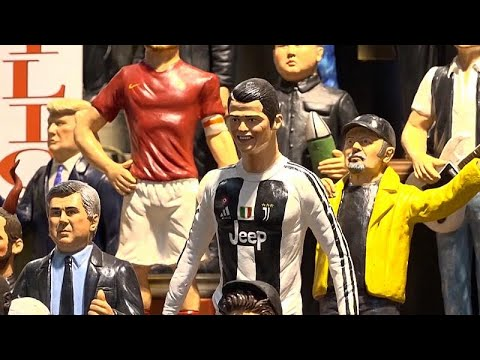 Presépios onde Cristiano Ronaldo também figura
