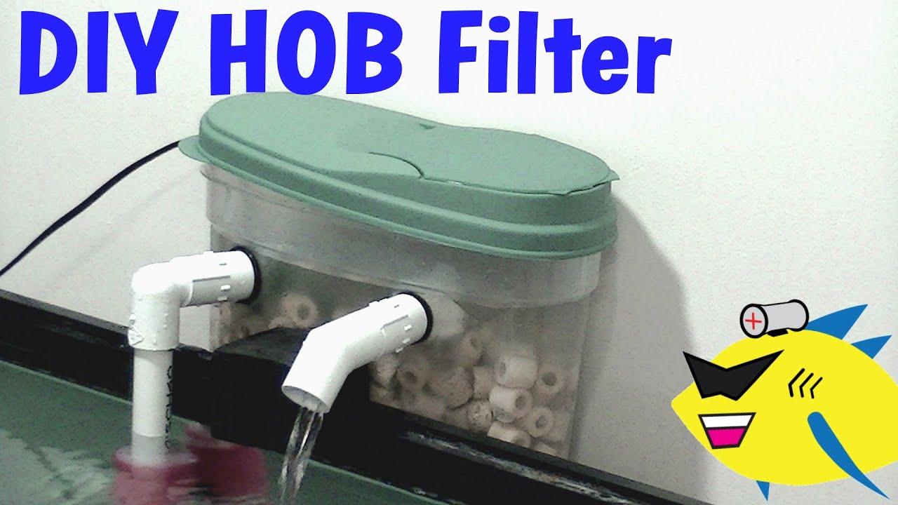How To Make: DIY Hang On Back Filter (HOB) Aquarium Filter - YouTube