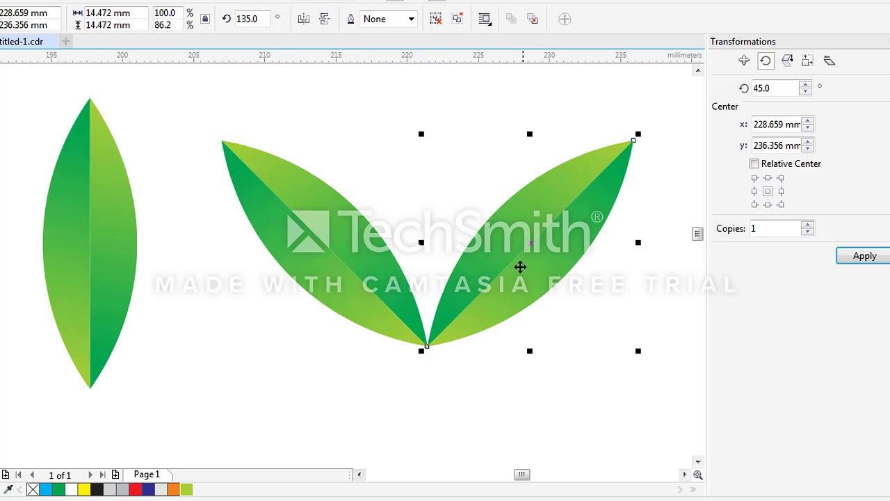 Corel X7 – Hướng dẫn vẽ cành tùng – Blend tool
