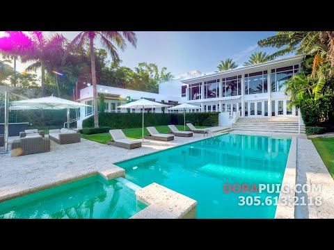 Palm Island Waterfront Estate - 24 Palm Avenue, Miami Beach Luxury Estate HD