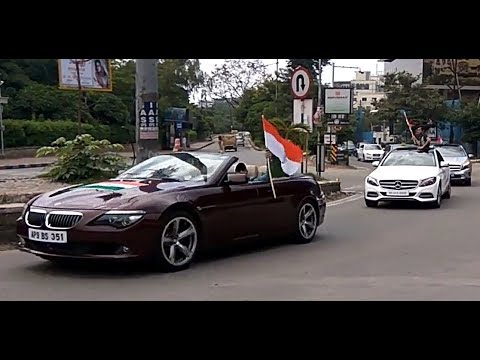 Independence Day Ride | Cars Rally | INDIA | 2017 | HYDERABAD | BMW | MERCEDES | JAGUAR